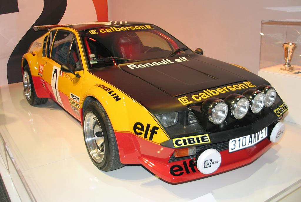 Alpine-A-310-V6-châssis-groupe-4 - Hall-Renault-Champs-Elysées - Copyright-inconnu