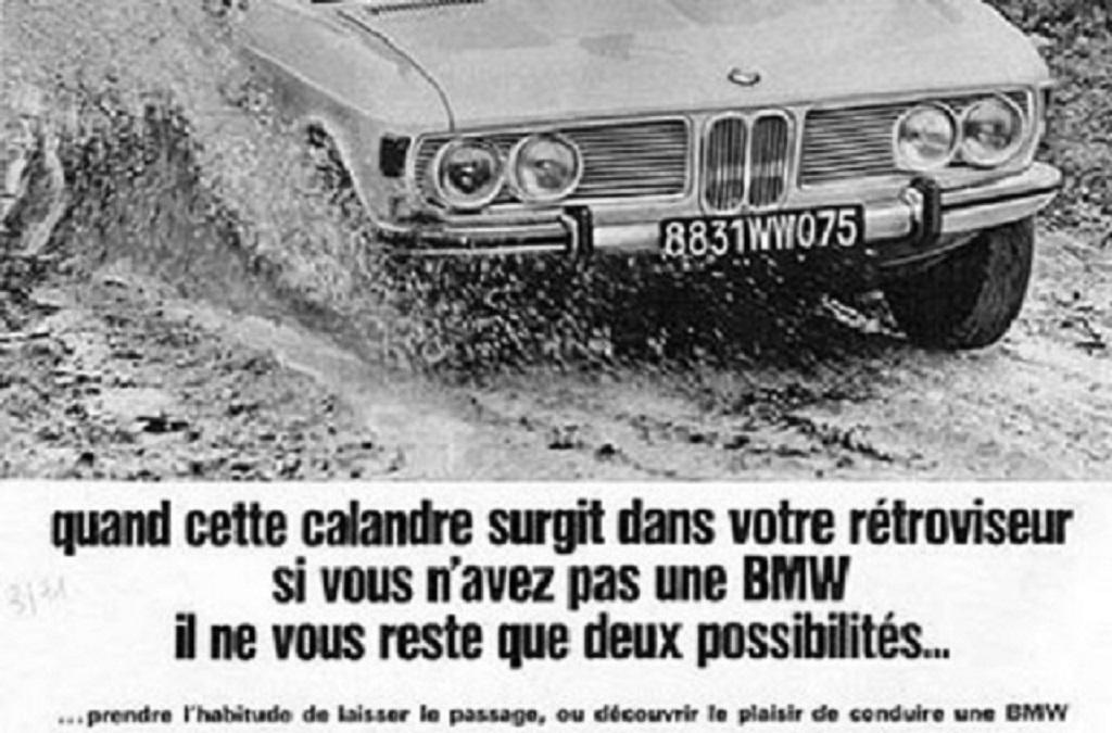 Ancienne - Publicité-BMW -
