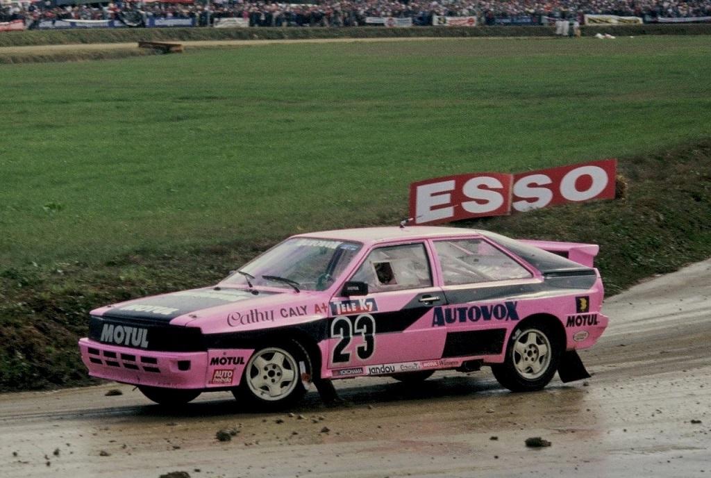 Caty -Caly- Audi-Quattro-1- 1987 - Rallycross-Lohéac - photo-Thierry-Le-Bras