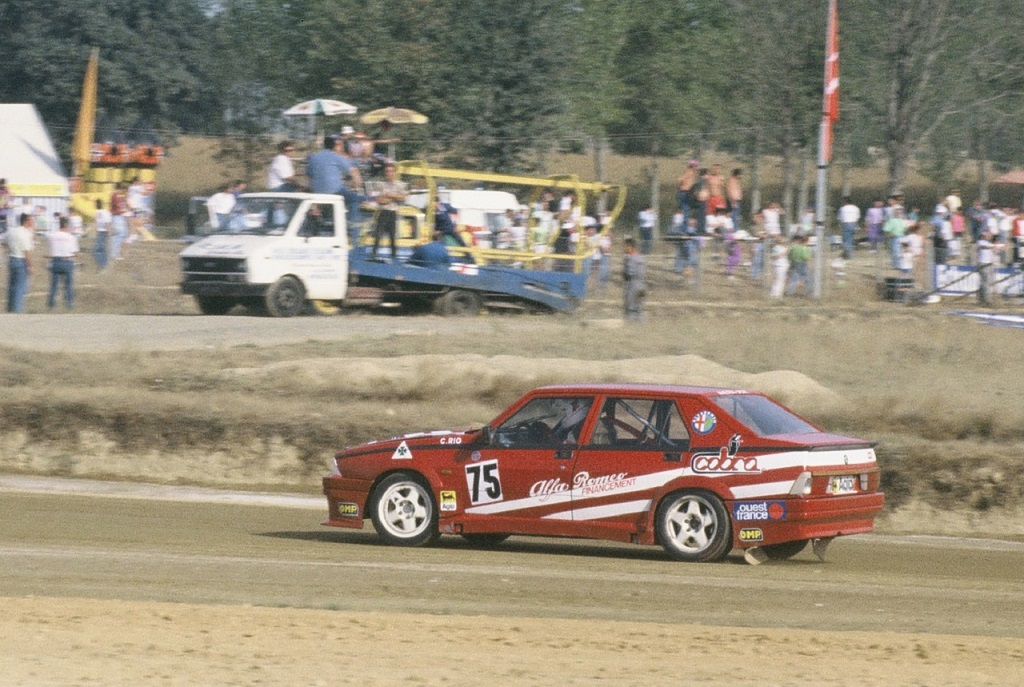 Christian-Rio - Alfa-Romeo-75-Turbo - 1990 - Lohéac - photo-Thierry-Le-Bras