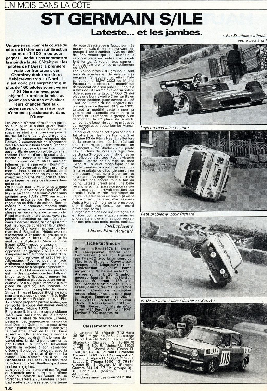 Course-de-côte-de-Saint-Germain-sur-Ille - 1976 - Reportage Echappement - juin