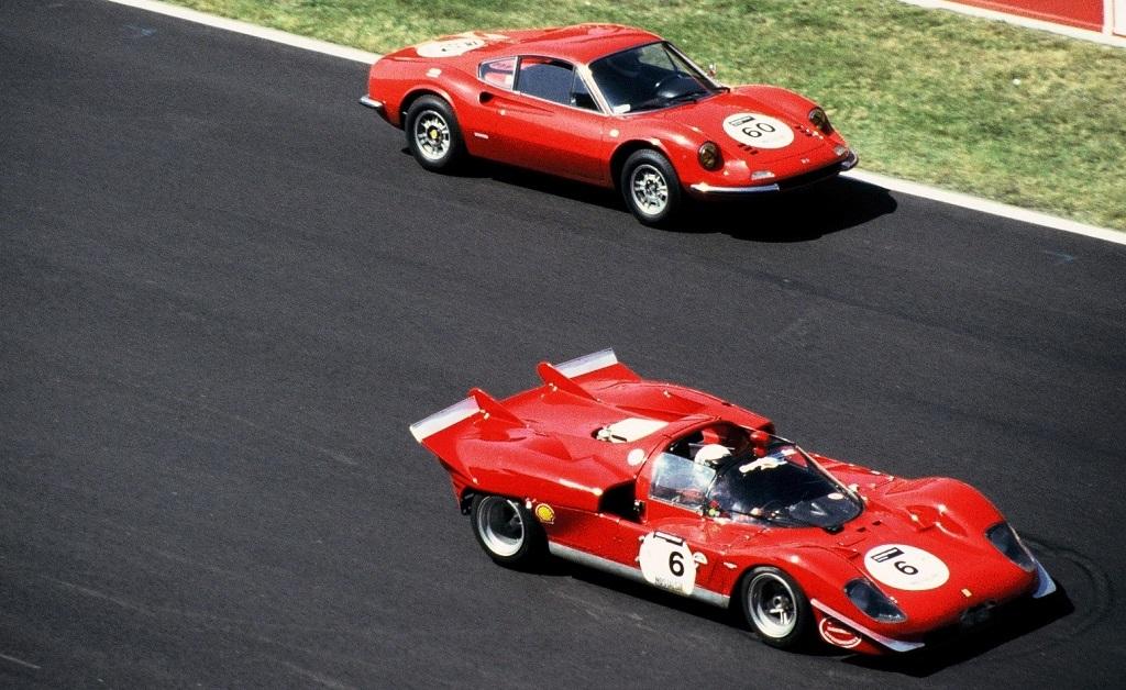 Ferrari-512-S - Ferrari-Dino-246-GT - 2004 - Mans-Classic - Photo-Thierry-Le-Bras