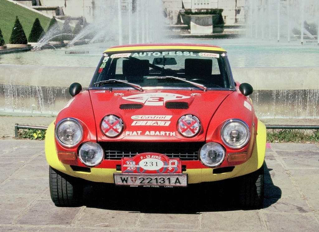 Fessl - Schraml - Fiat-124-Abarth- 2003 -1 -Tour-Auto - Photo-Thierry-Le-Bras