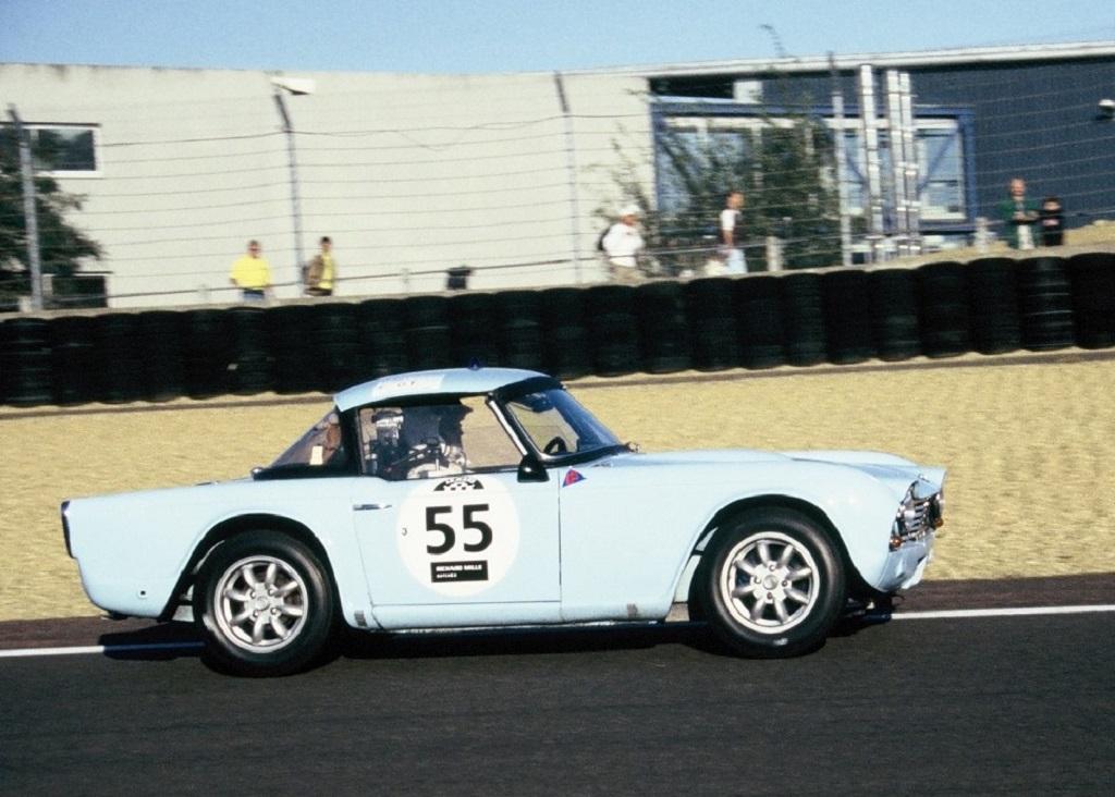 Gartner-Rivet-Fusil-Munier-Deslandes - - Triumph-TR4 - 2002- Mans-Classic - Photo-Thierry-Le-Bras