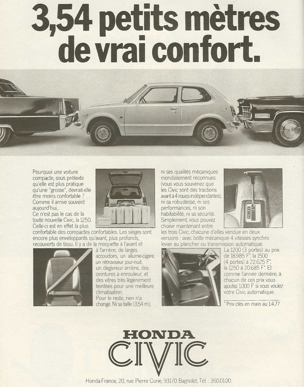 Honda-Civic-première-génération - publicité