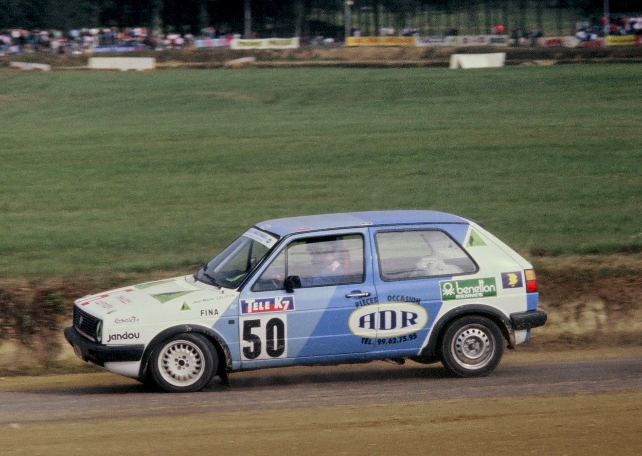 Jean-Marie-Galipon - VW-Golf-GTI- 1987 - Rallycross-Lohéac - Photo-Thierry-Le-Bras
