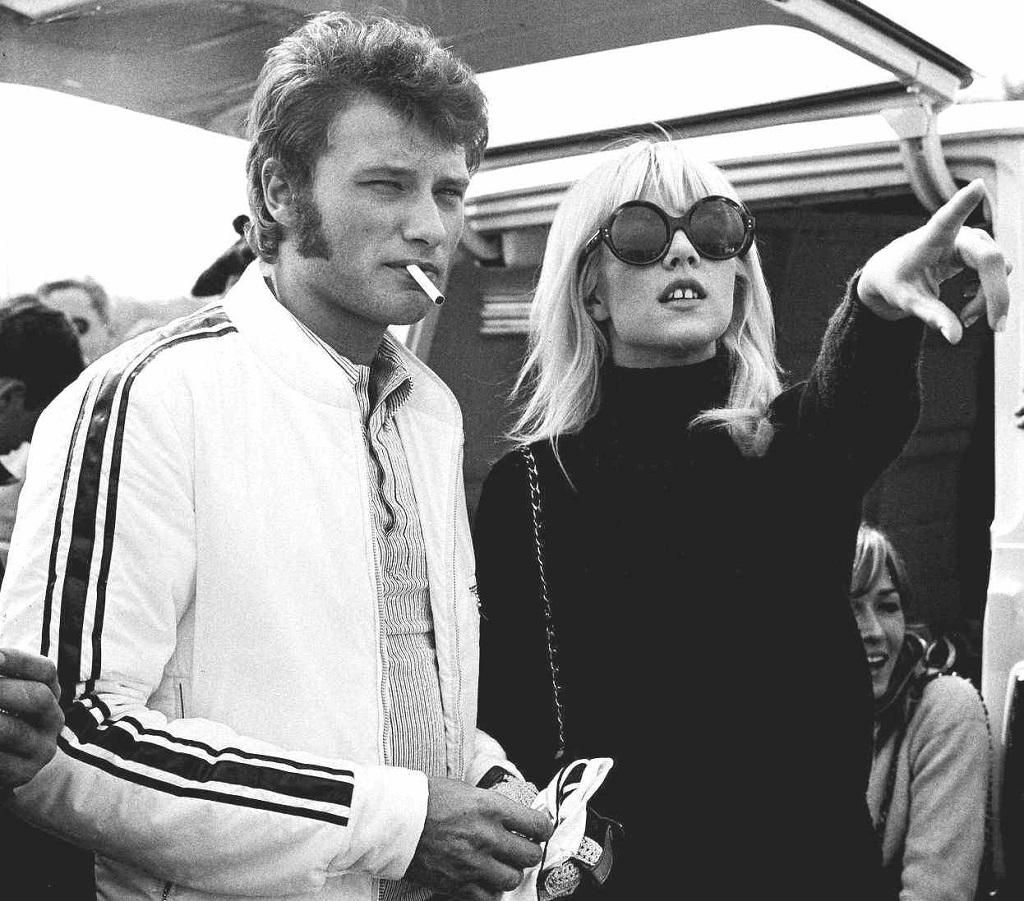 Johnny-Hallyday-Sylvie-Vartan- 1967-Montlhéry