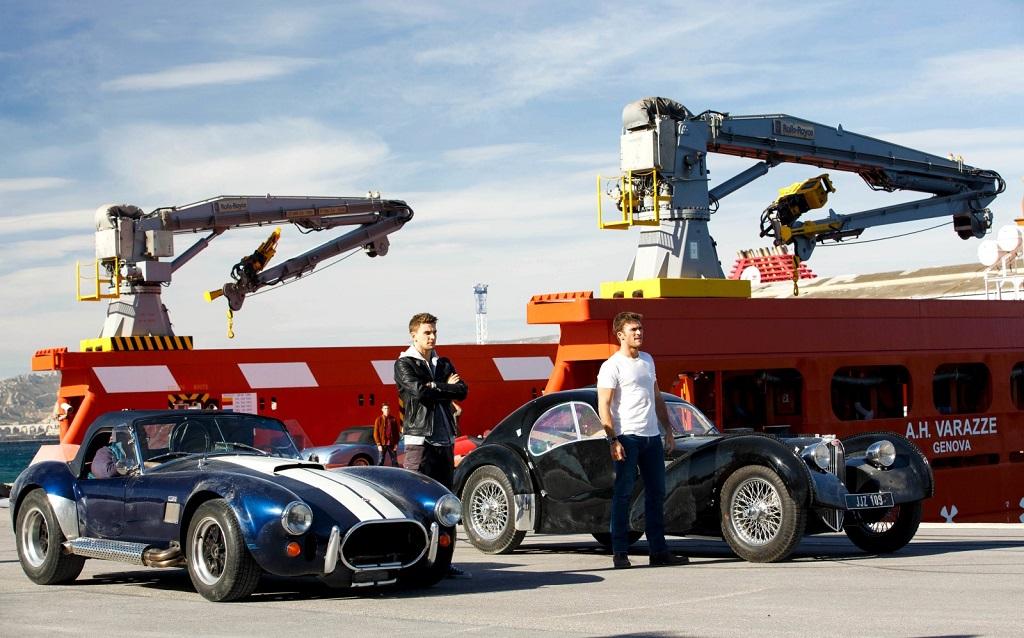 Les-frères-Foster-avec-une Cobra-et-une Bugatti