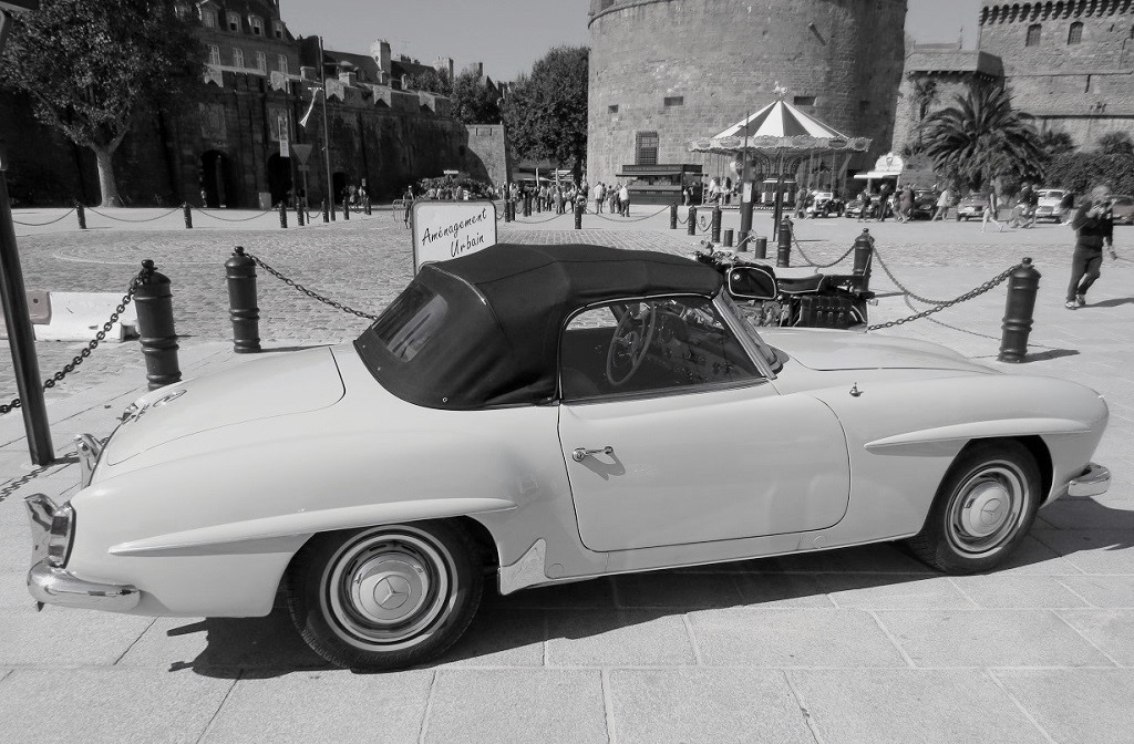 Mercedes-190-SL - Saint-Malo - Photo - Thierry-Le-Bras