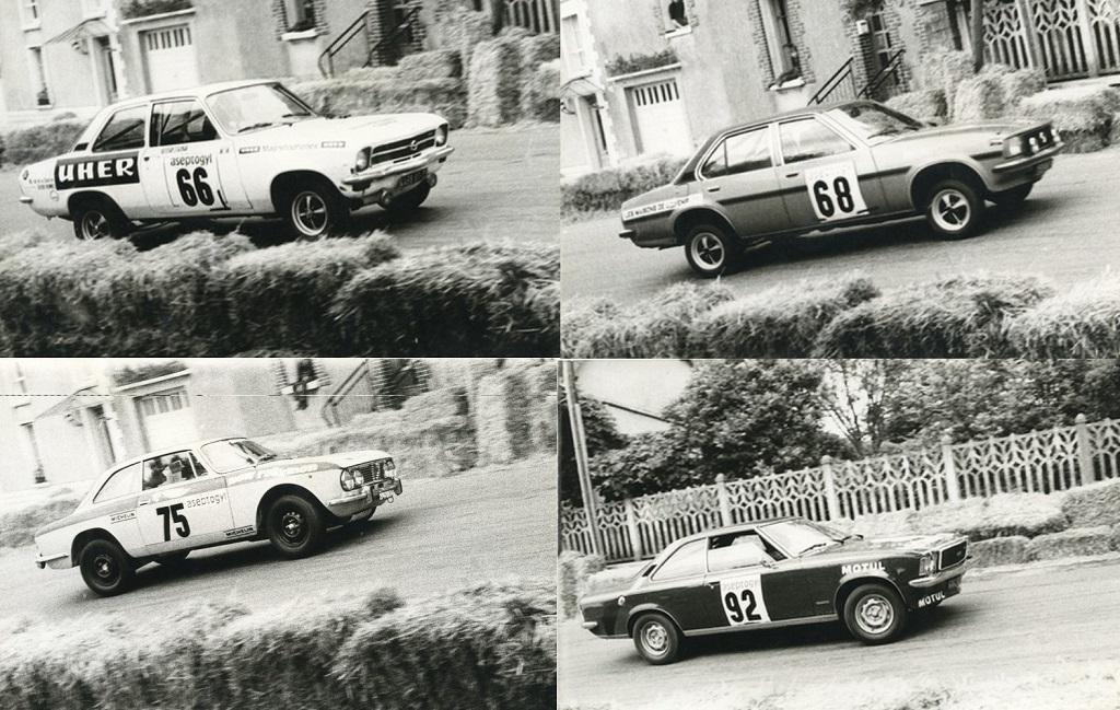 Opel-Ascona-SR- Alfa-Romeo-2000-GTV - Opel-Commodore-GSE - 1976 - Course de-côte-Saint-Germain-sur-Ille - Photos-EK
