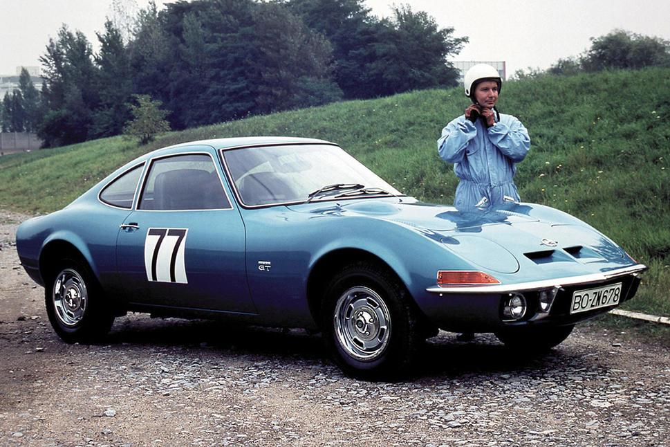 Opel-GT -bleue