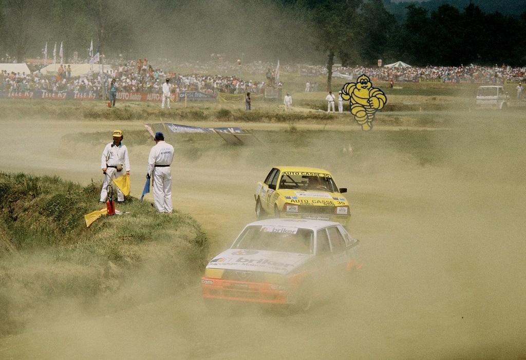 Philippe-Hamer - Alfa-Romeo -75-Turbo-Evoluzione- et- Didier-Caradec - Peugeot-505-Turbo - 1988- Lohéac- Photo-Thierry-Le-Bras -