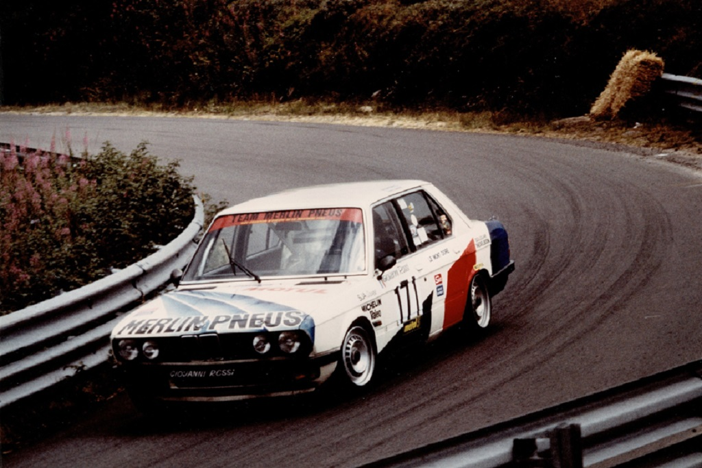 Rossi-BMW-528-groupe-A- 1983 - CC-Mont-Dore- Photo-Thierry-Le-Bras