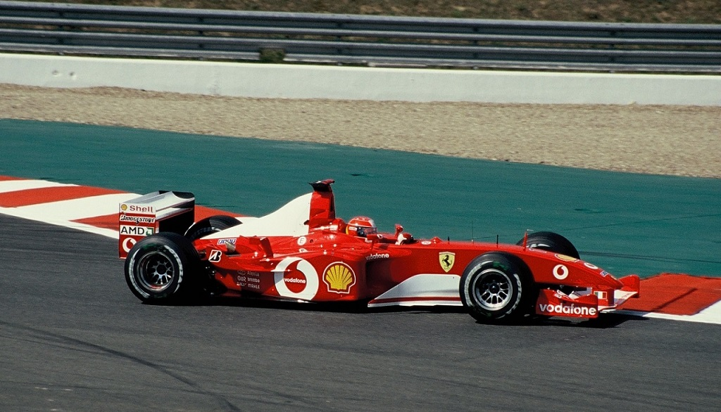 Schumacher - Ferrari-F1 - 2002 - Magny-Cours - Photo-Thierry-Le-Bras