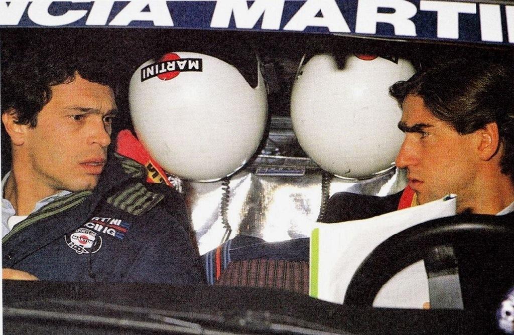 Sergio-Cresto (à gauche) - Henri-Toivonen - Lancia-Delta-S4 - 1986