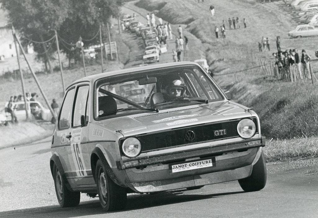 Thierry-Le-Bras -1- VW-Golf-GTI - 1977- CC-Neuvy-le-Roi- Photo- Photo-Actualité