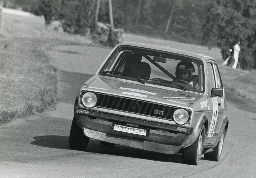 Thierry-Le-Bras -3- VW-Golf-GTI - 1977- CC-Neuvy-le-Roi- Photo- Photo-Actualité