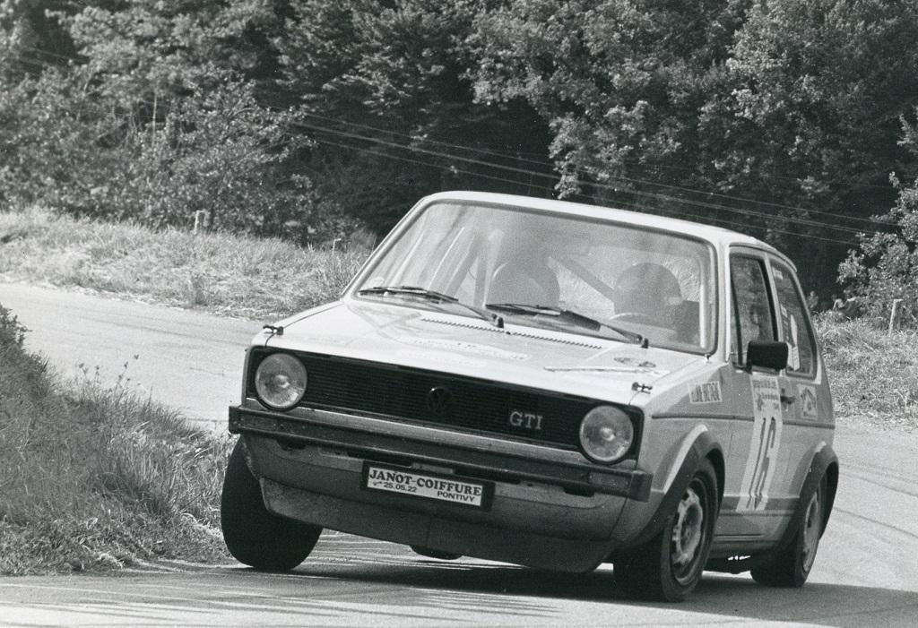 Thierry-Le-Bras -5- VW-Golf-GTI - 1977- CC-Neuvy-le-Roi- Photo- Photo-Actualité