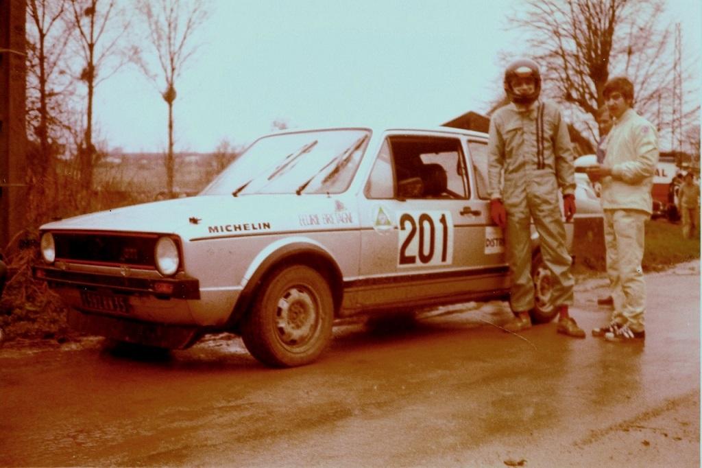 Thierry-Le-Bras-Bernard-Pesnel - 1 - VW-Golf-GTI - 1979 - Rallye-de-Touraine- photo-Team-TLB