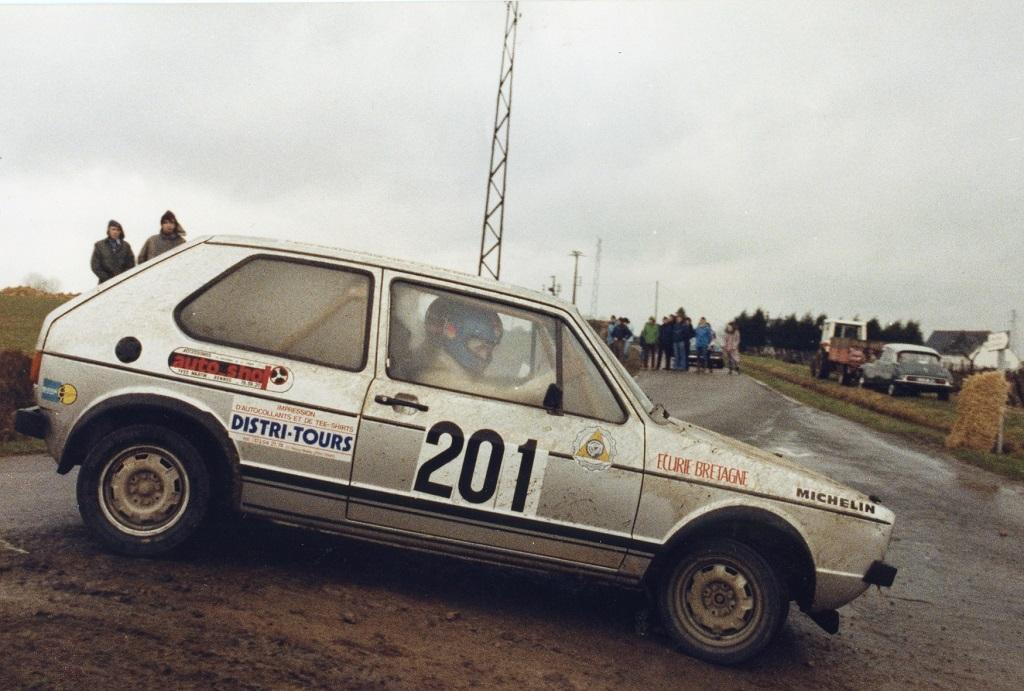 Thierry-Le-Bras-Bernard-Pesnel - 2 - VW-Golf-GTI - 1979 - Rallye-de-Touraine- photo-Photo-Actualité