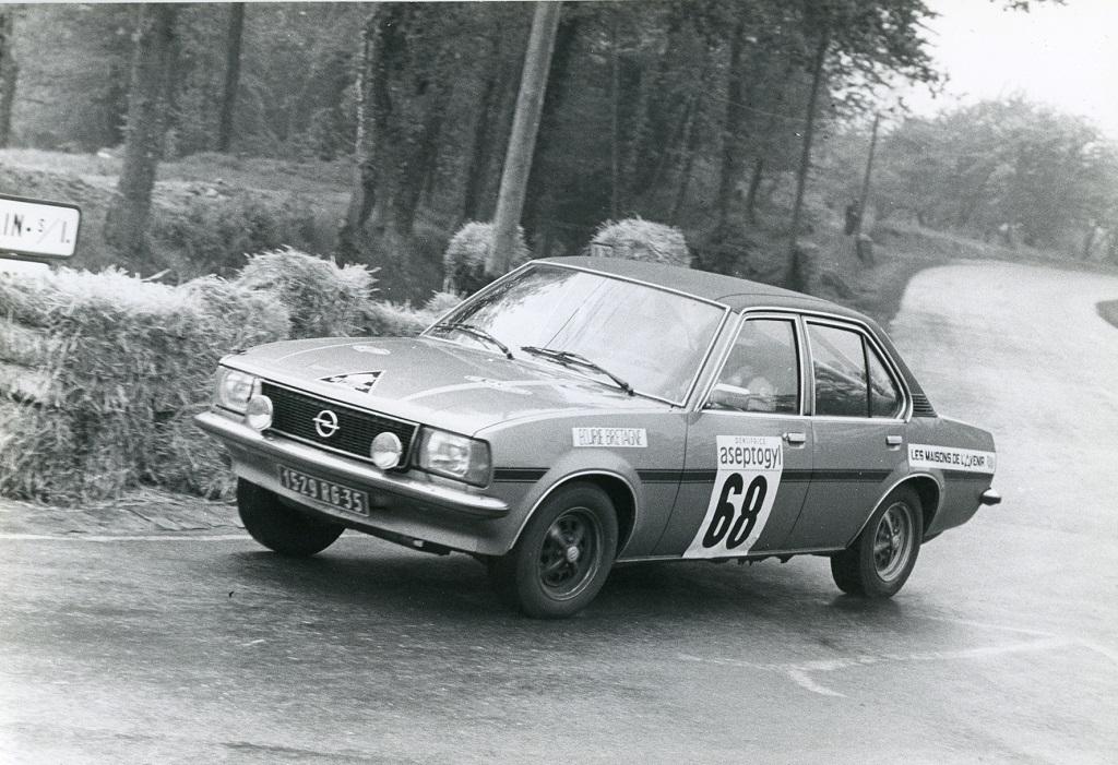Thierry-Le-Bras -Opel-Ascona-19-SR - 1976 -CC-Saint-Germain-sur-Ille - essais - Photo-Photo-Actualité