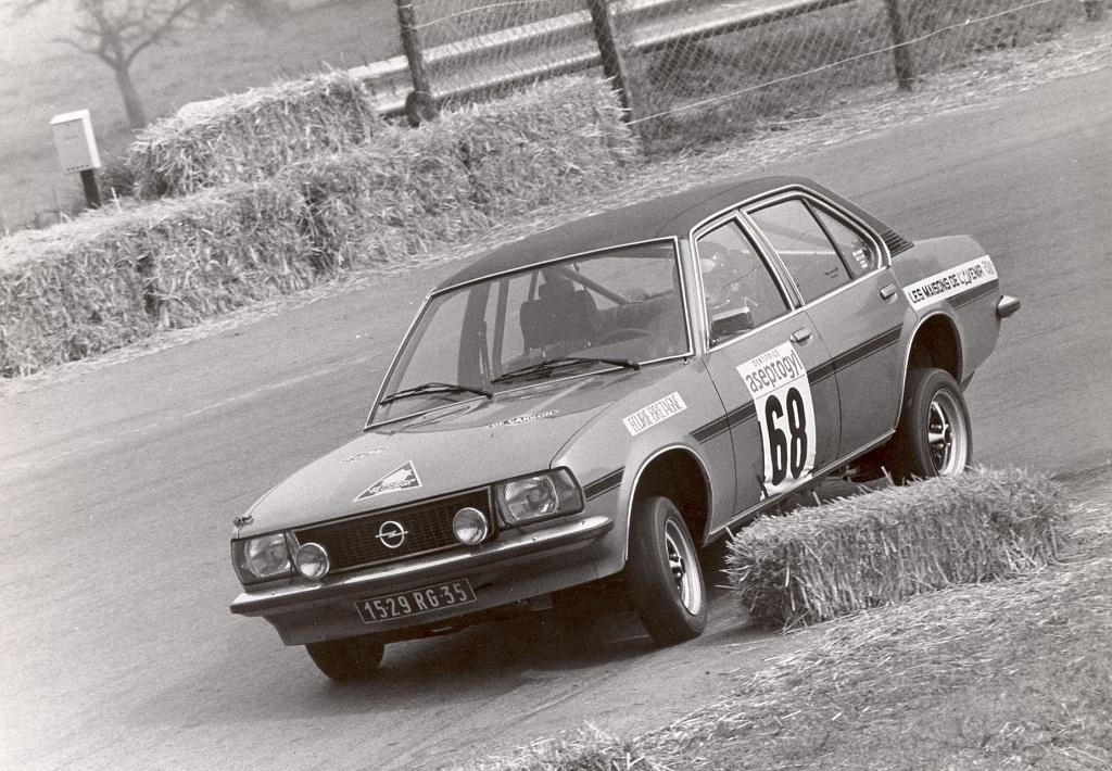 Thierry-Le-Bras -Opel-Ascona-19-SR - 1976 - Course -CC-Saint-Germain-sur-Ille - Photo-Photo-Actualité