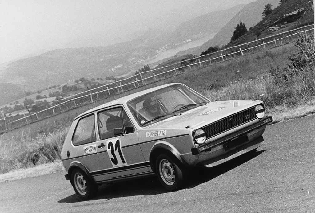 Thierry-Le-Bras - VW-Golf-GTI - 1977 - CC-Mont-Dore - 2 - Photo-Photo-Actualité