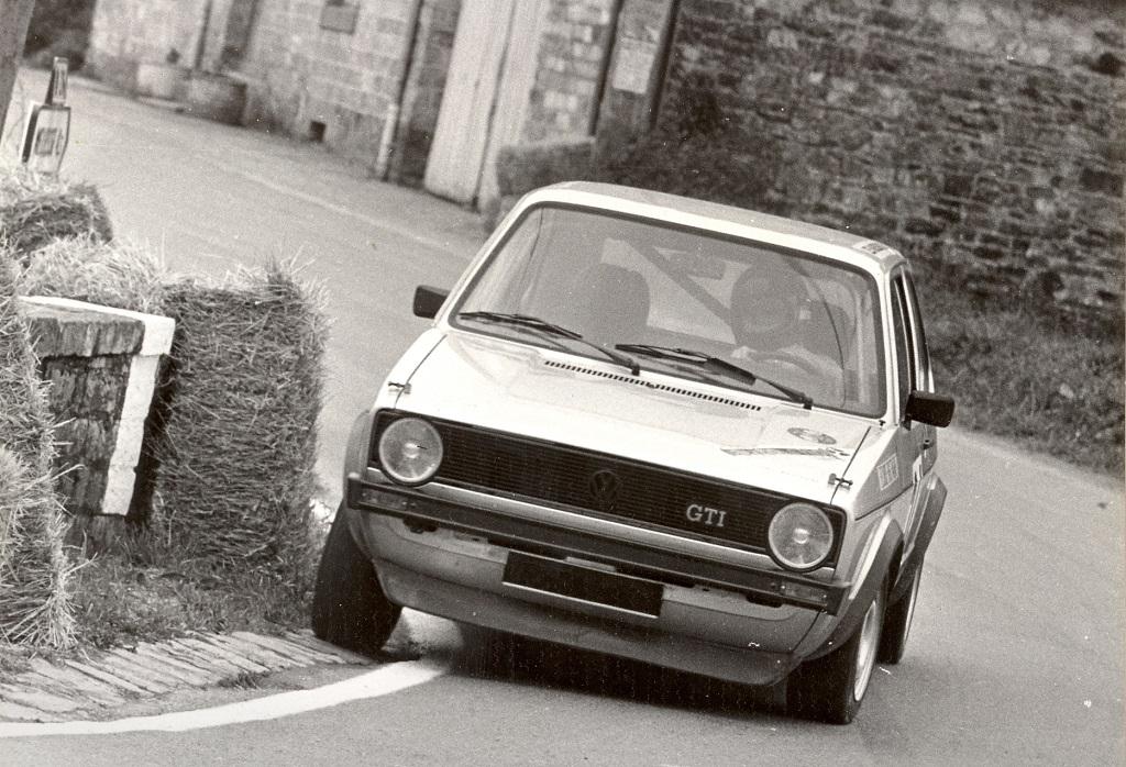 Thierry-Le-Bras - VW-Golf-GTI- 1977 - Course-de-côte-de-Saint-Germain-sur-Ille -Photo-Photo-Actualité