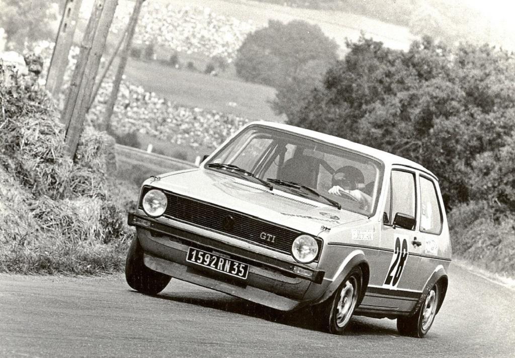Thierry-Le-Bras - VW-Golf-GTI - 1977- Pouillé-Les-Coteaux - Photo-Photo-Actualité