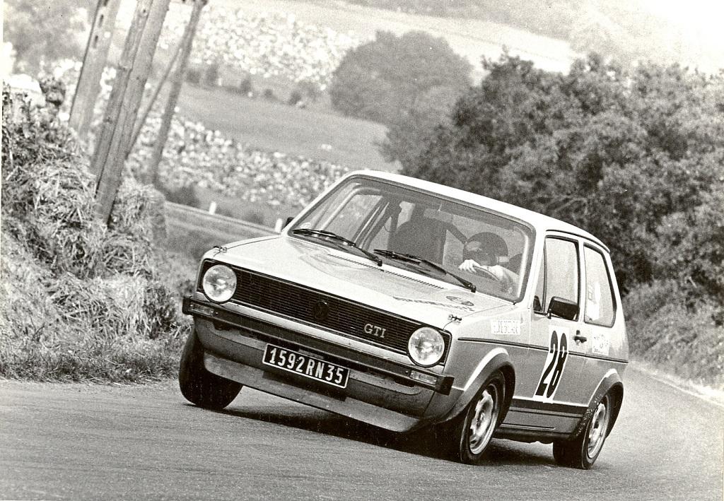 Thierry-Le-Bras - VW-Golf-GTI  - 1977 - Pouillé-les-Coteaux - Photo - Photo-Actualité