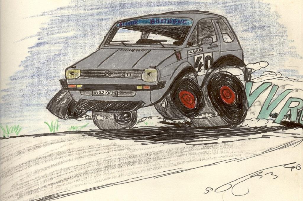 VW-Golf-GTI- 1977 - Dessin-1-Guenael-LS