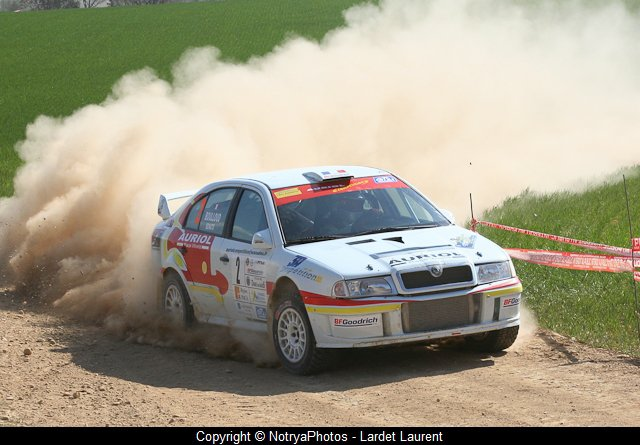 Yoann-Bonato-Benjamin-Boulloud - Skoda-WRC - 2008 -Rallye-Terre-de-Provence - Photo-Lardet-Laurent