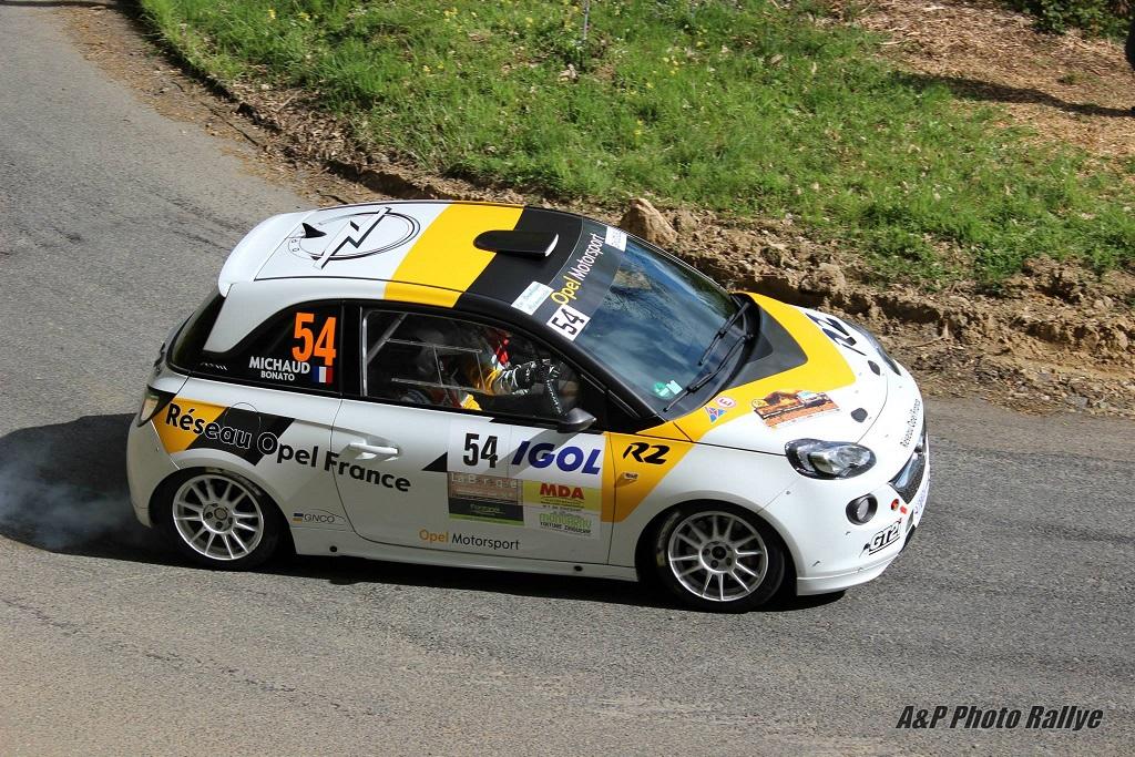 Yoann-Bonato-Thierry-Michaud-2014 -Opel-Adam-R2-Performance - Rallye-Lyon- Charbonnières - Photo- A&P-Photo-Rallye