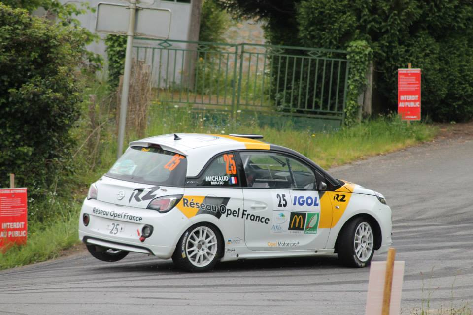 Yoann-Bonato-Thierry-Michaud - Opel-Adam-R2-Performance - 2014 - Rallye-du-Limousin